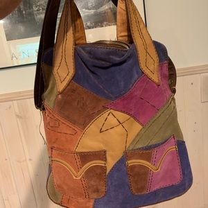 Lucky Brand. Patchwork suede and leather